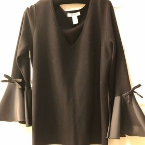 White House Black Market bell sleeve blouse